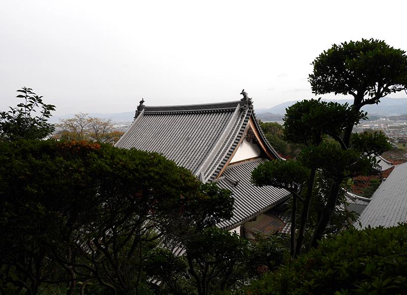 屋根と奈良の景色