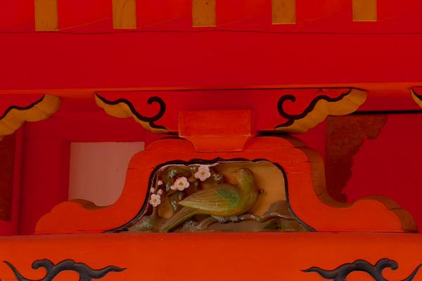 壺井八幡宮の本殿の蟇股